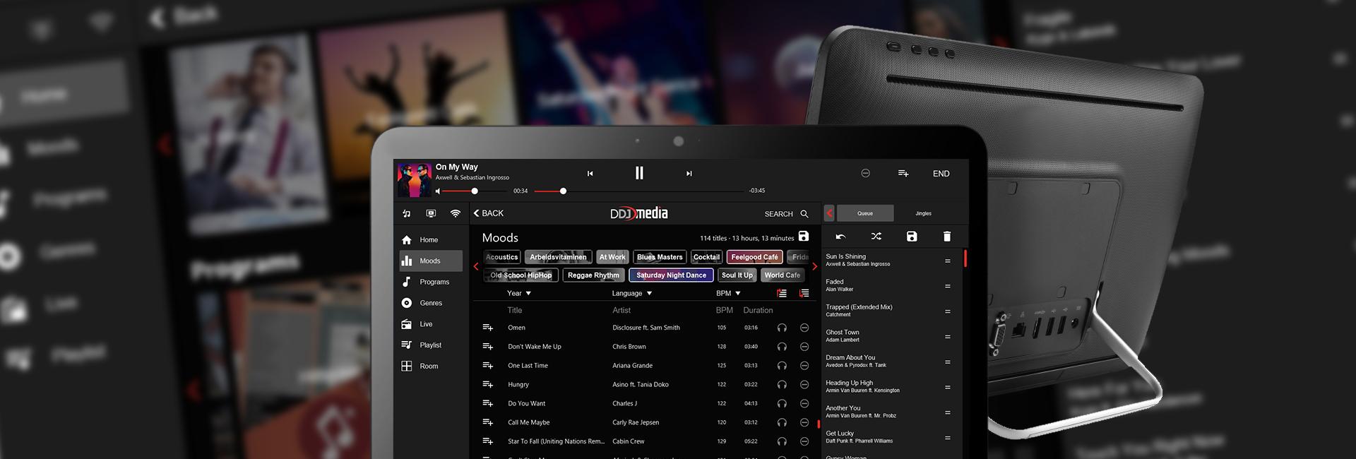 DDJ Media All-in-One muzieksysteem met gebruiksvriendelijke software