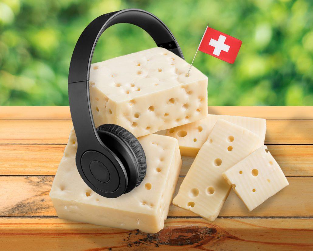 Kaas luistert naar muziek tijdens rijpen