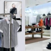 Narrowcasting toegepast in kledingwinkel