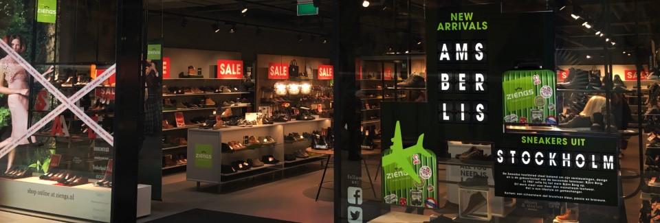 Retail DDJ Media videowall schoenenwinkel